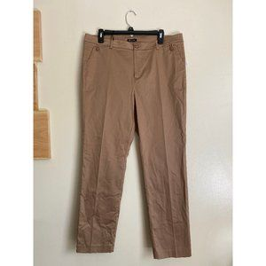 MASSIMO DUTTI TAN BROWN PANTS BUTTON TROUSERS NEW